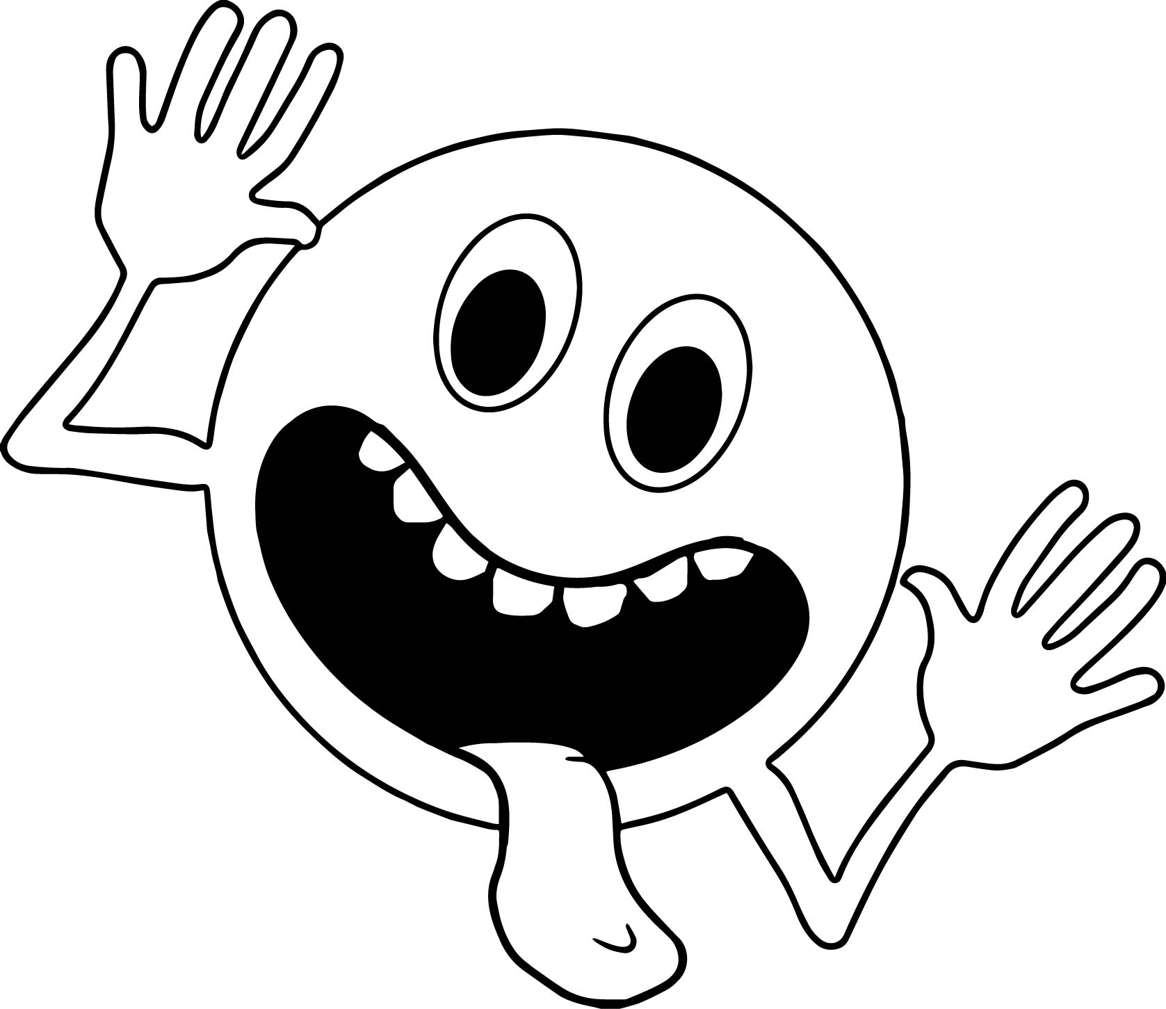 circle comic funny alien face coloring page wecoloringpage
