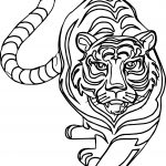 Come Outline Tiger Coloring Page