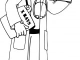 Community Helper X Ray Doctor Coloring Page