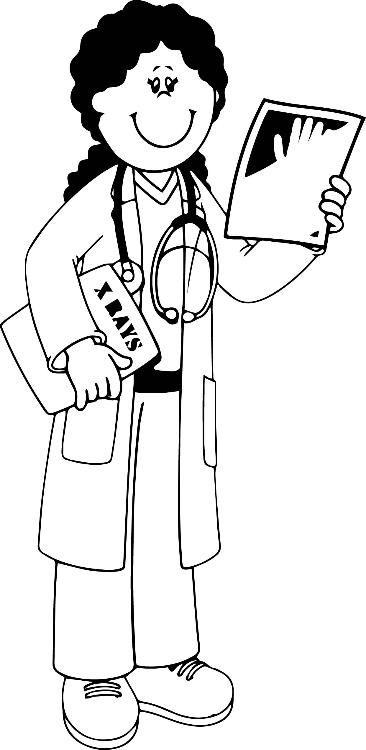 Community Helper X Ray Doctor Coloring Page | Wecoloringpage.com
