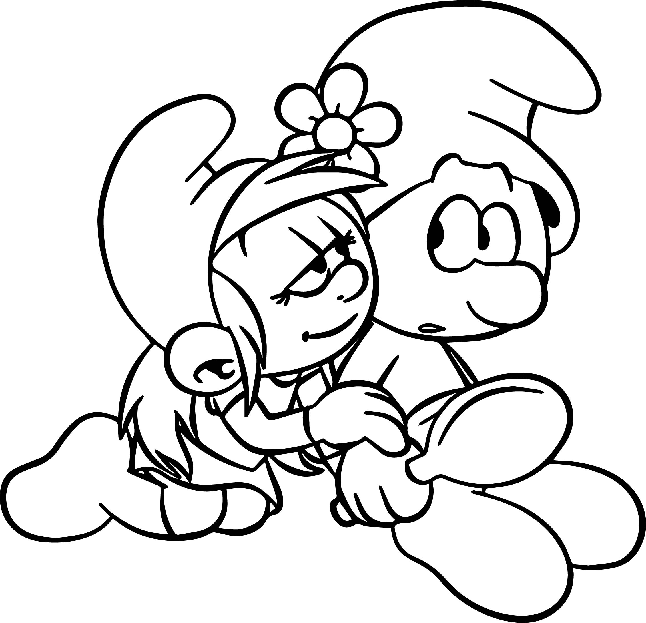 Could You Look At Something Else For A Minute Smurf Coloring Page