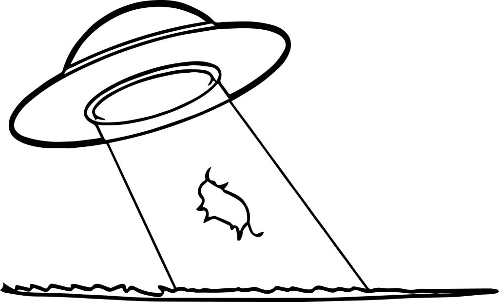 Cow Abduction Coloring Page Wecoloringpage Com