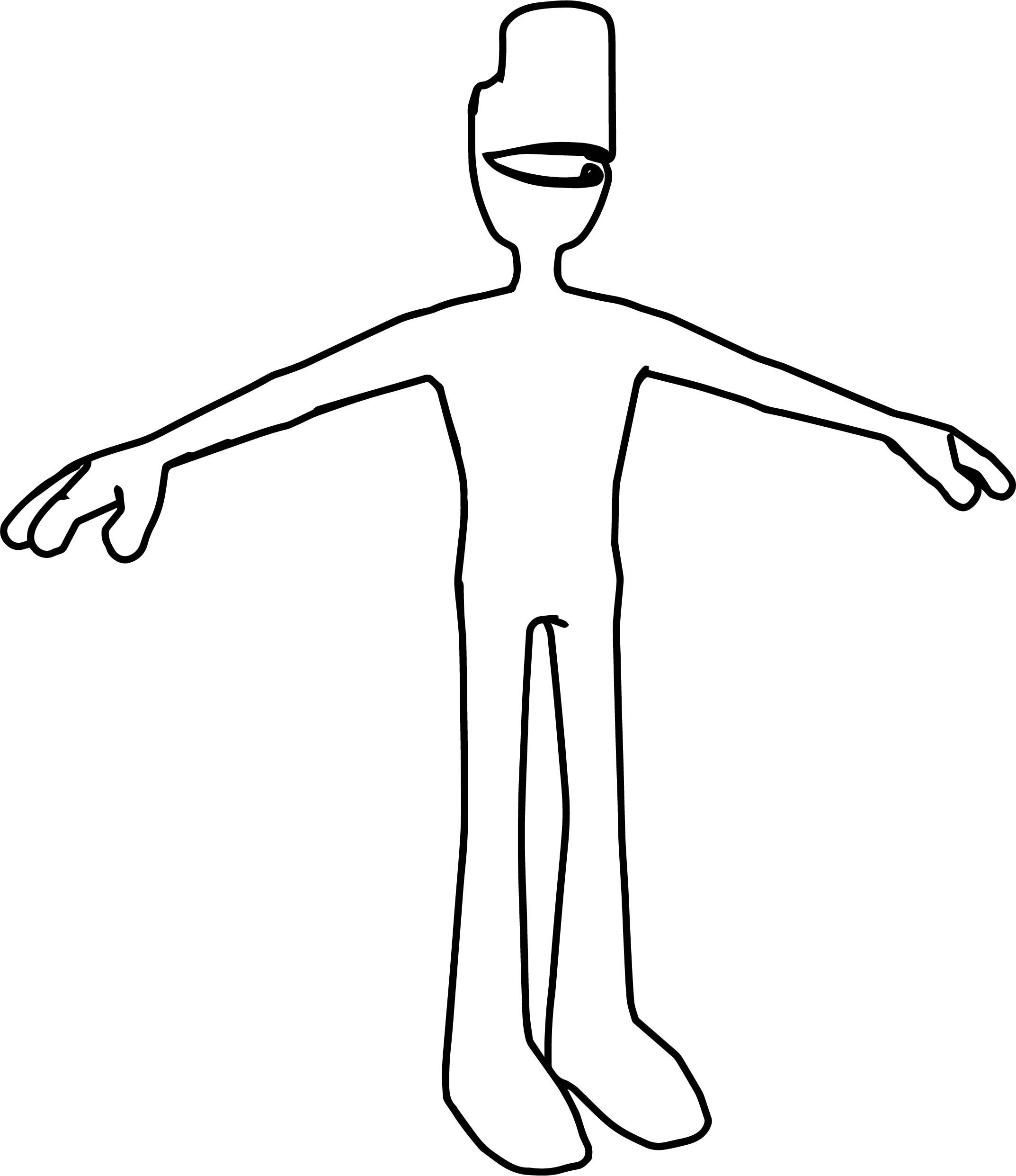 Creature Man Happy Coloring Page