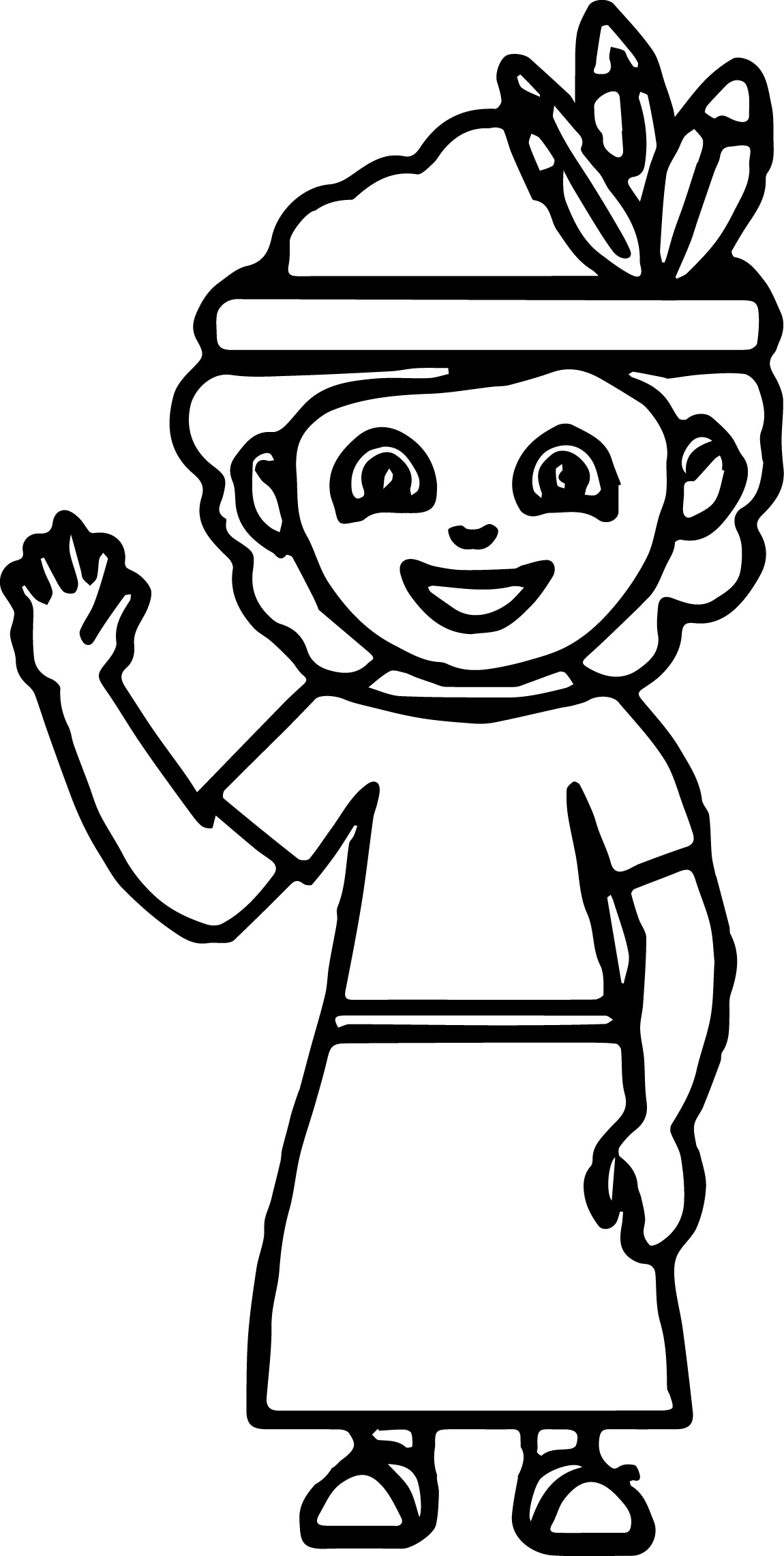 Cultural Costume Native American Coloring Page