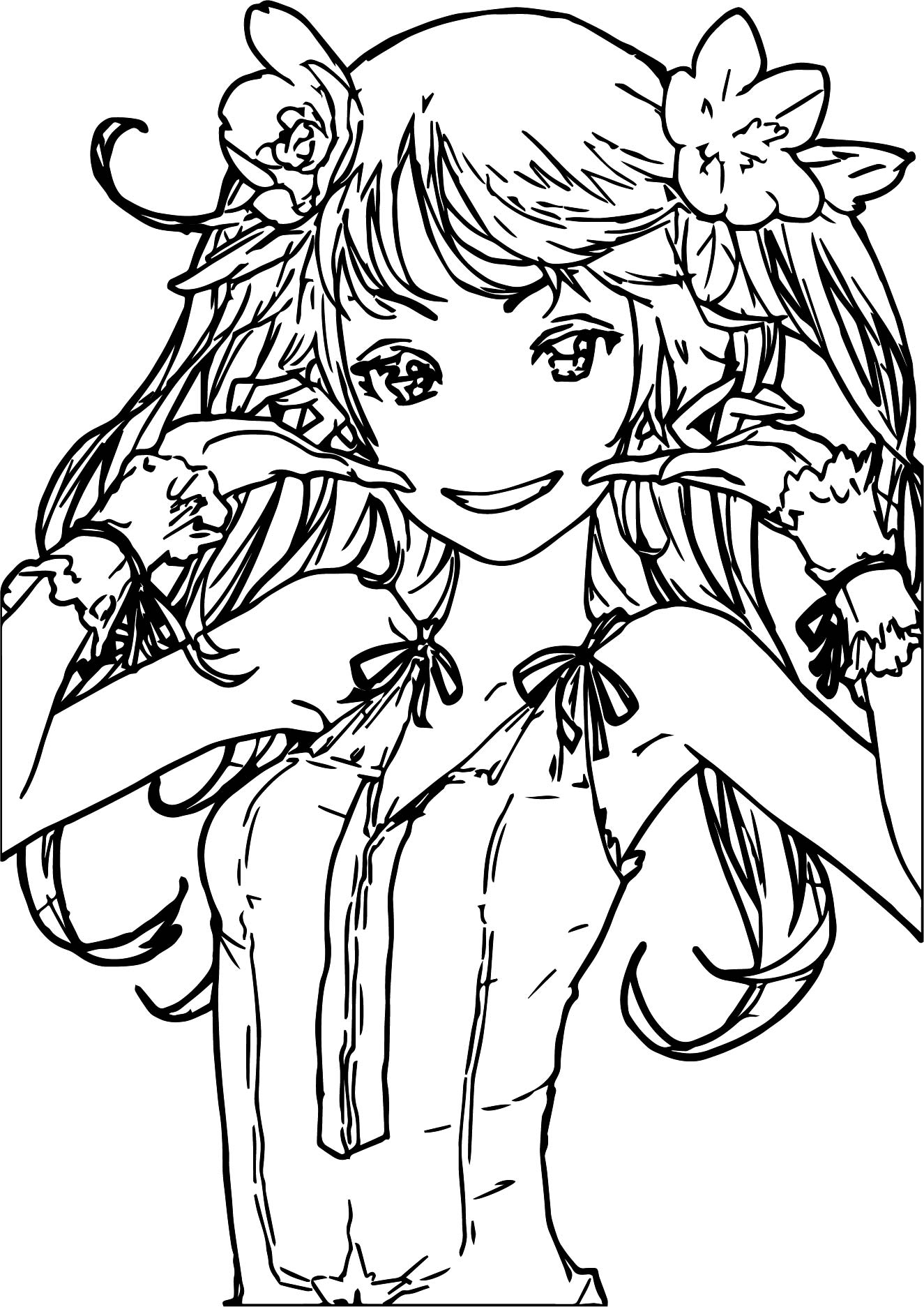 cute anime coloring pages wecoloringpage