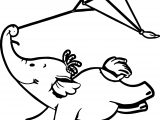 Cute Elephant Kite Fly Cartoon Picture