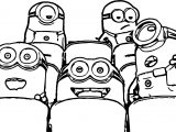 Cute Minion Cinema Coloring Page