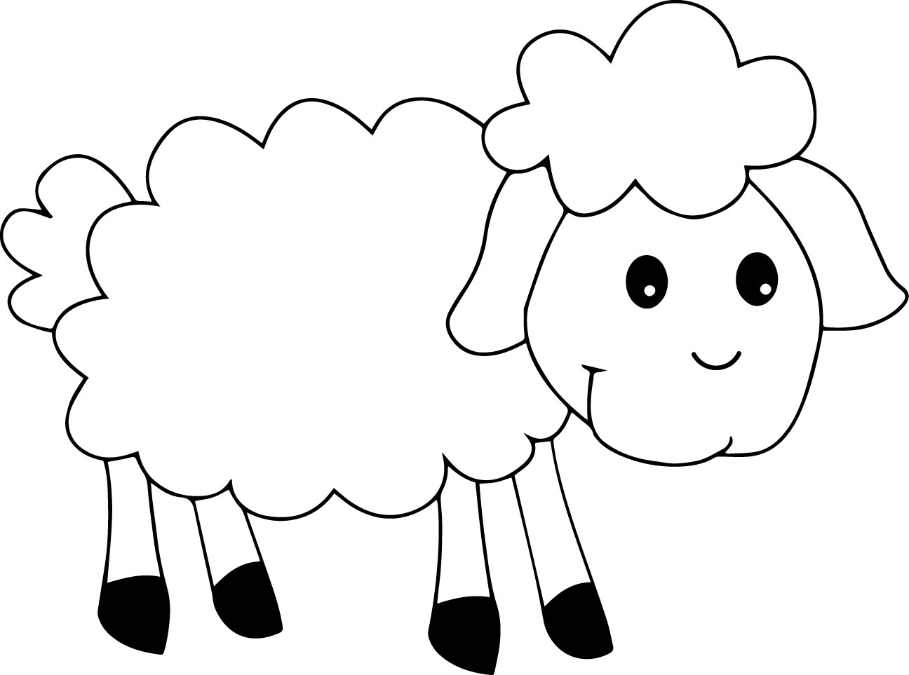 Cute sheep coloring page for Lamb coloring page