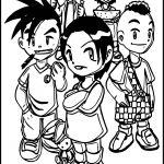 Da Monica Gang Chibi Character Coloring Page