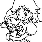 Daisy And Baby Super Mario Coloring Page