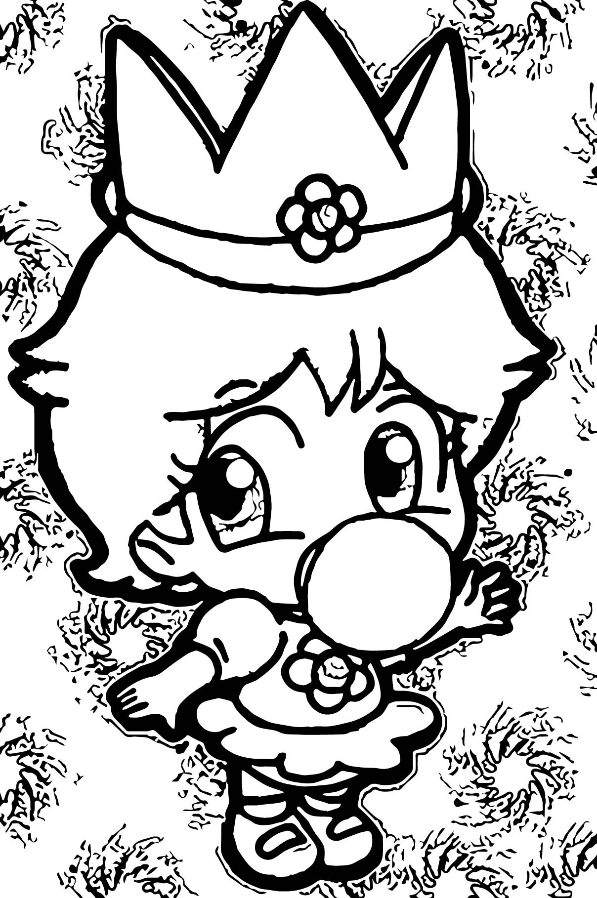 Daisy Baby Coloring Page