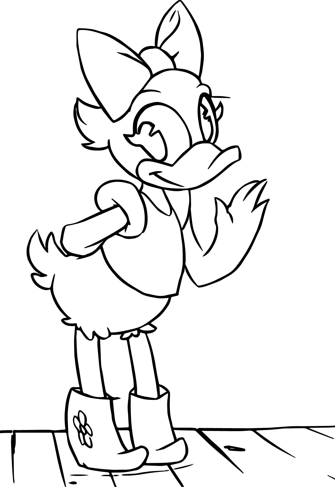 Daisy duck coloring page for Daisy coloring page