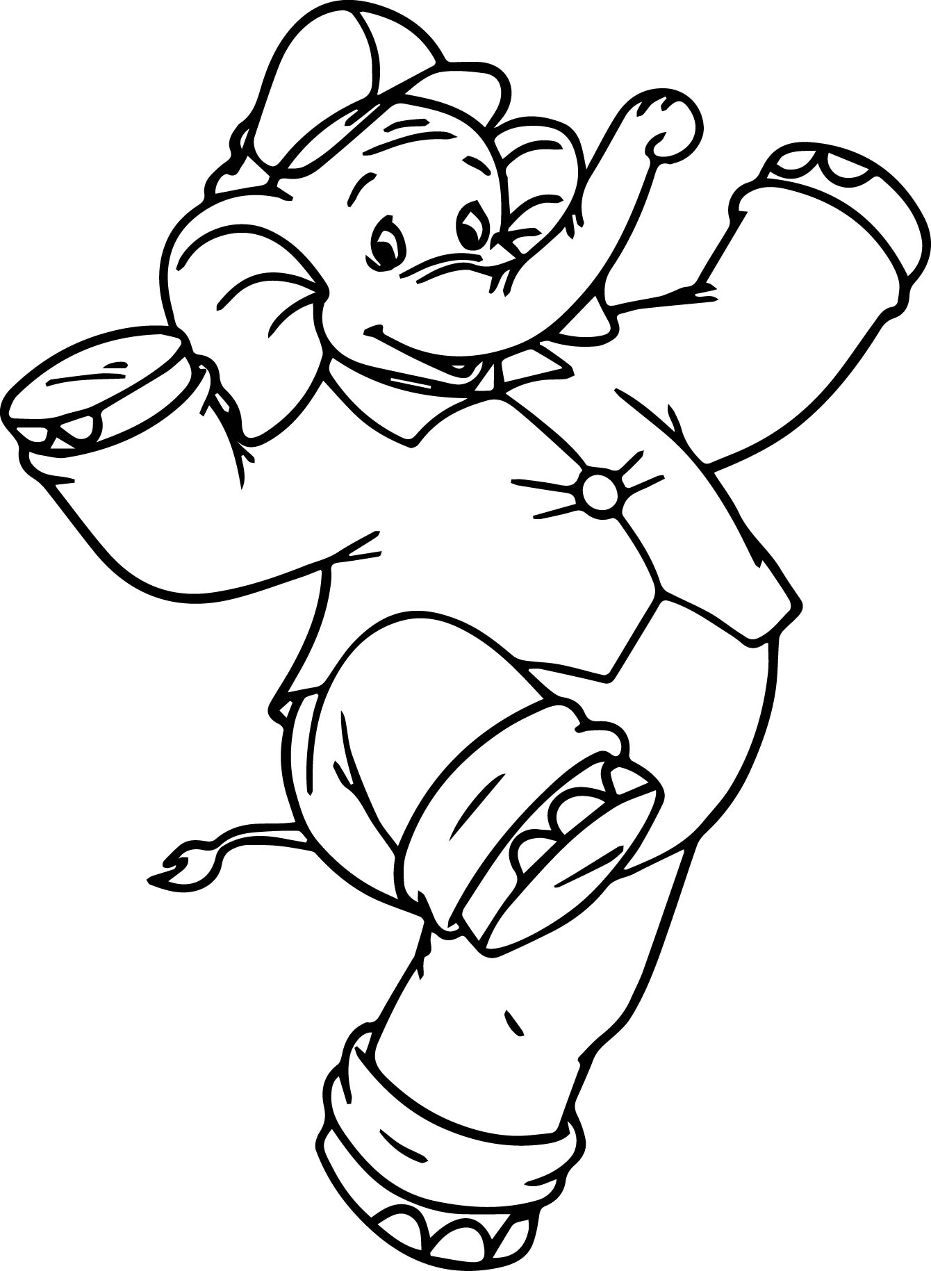 dance color pages - dance amazing elephant coloring page