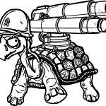 Danger Tortoise Turtle Gun Coloring Page