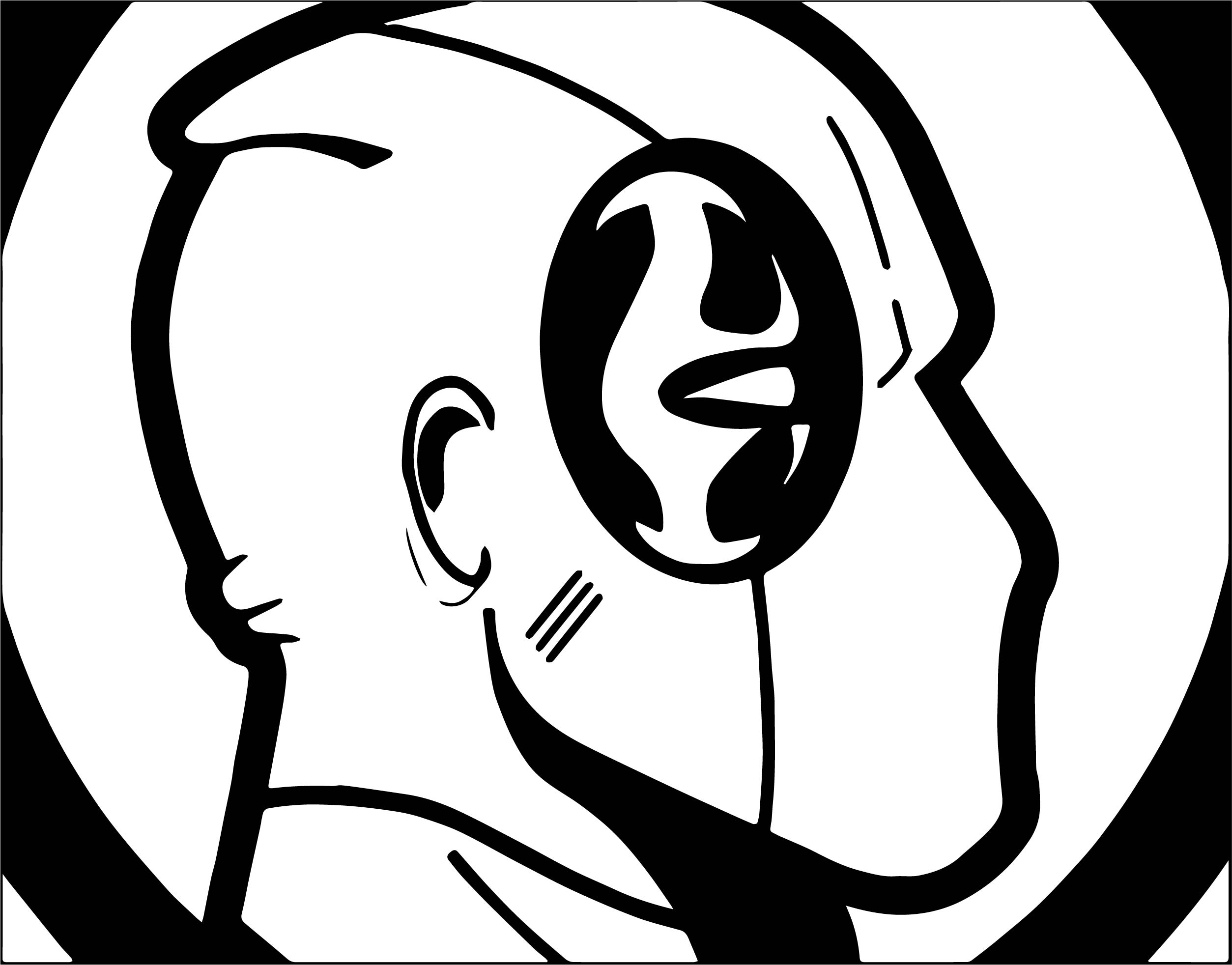 Deadpool Face Coloring Page