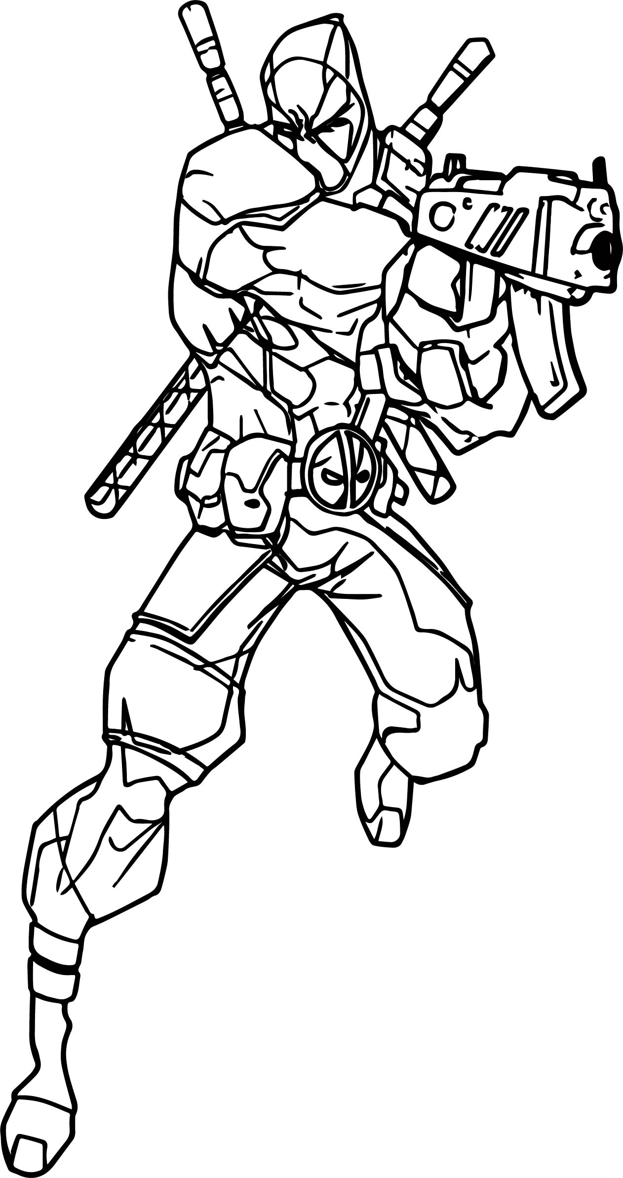 Deadpool Shoot Coloring Page