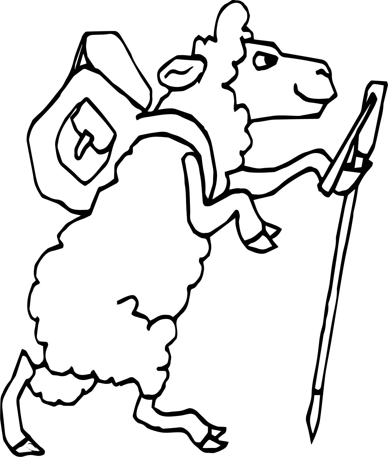 Dervish Sheep Walking Coloring Page