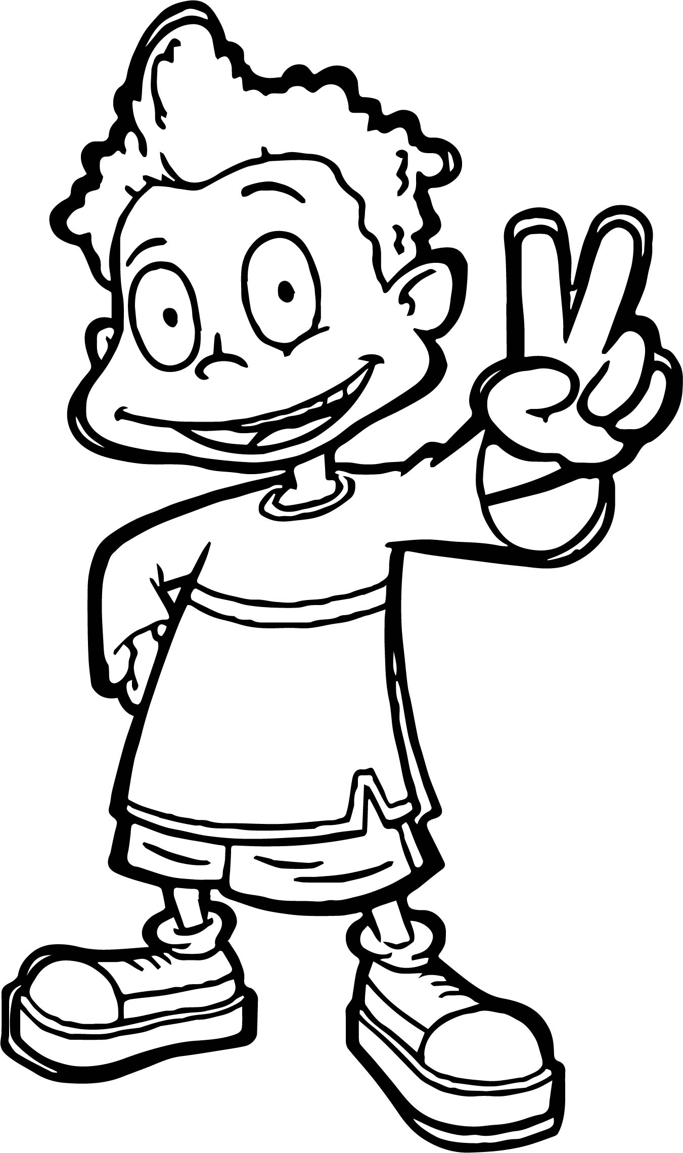 Dil Rugrats All Grown Up Coloring Page Wecoloringpage Com