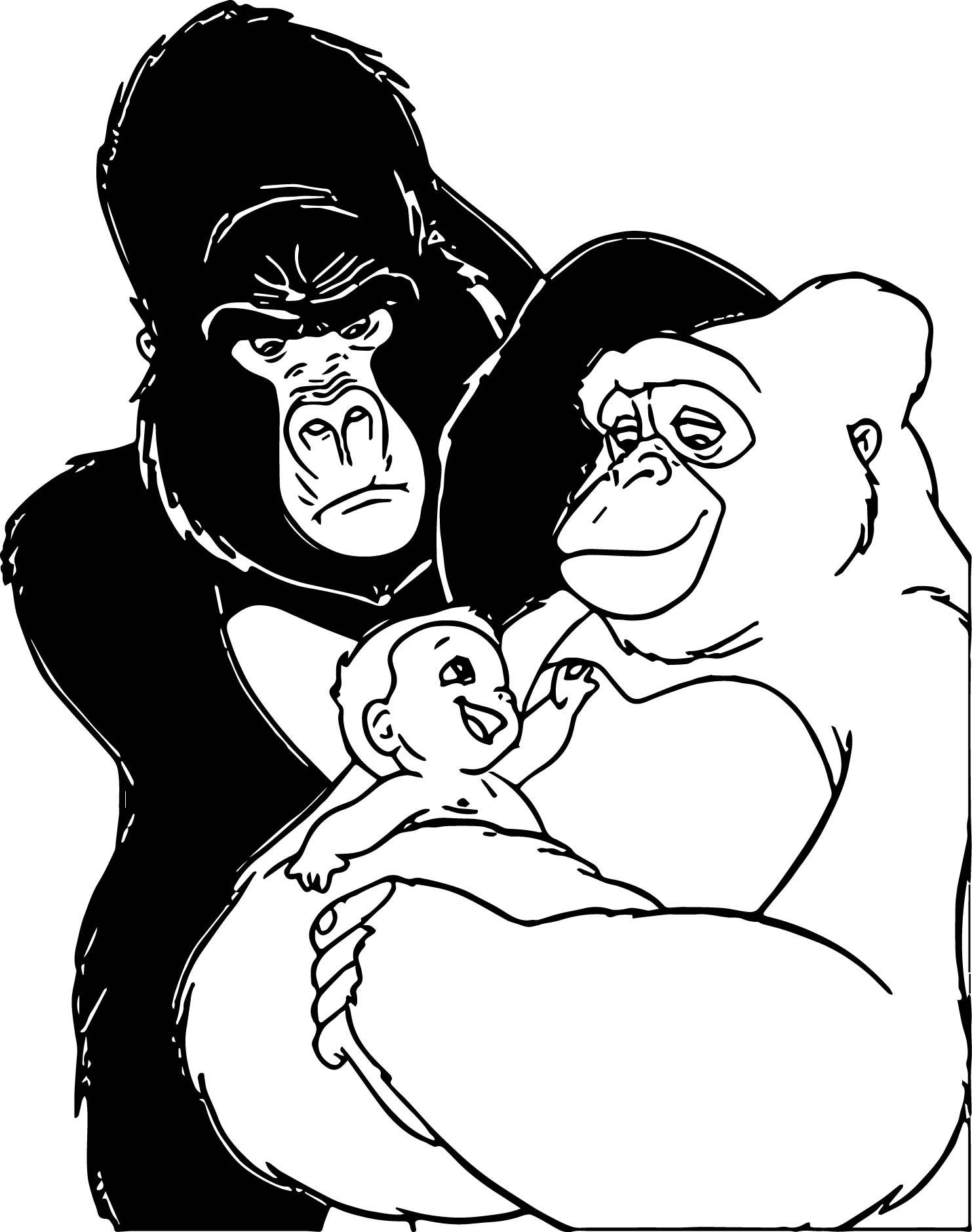 Disney Baby Tarzan Chak Baby Coloring Page