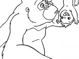 Disney Baby Tarzan Kala Baby Turn Coloring Page