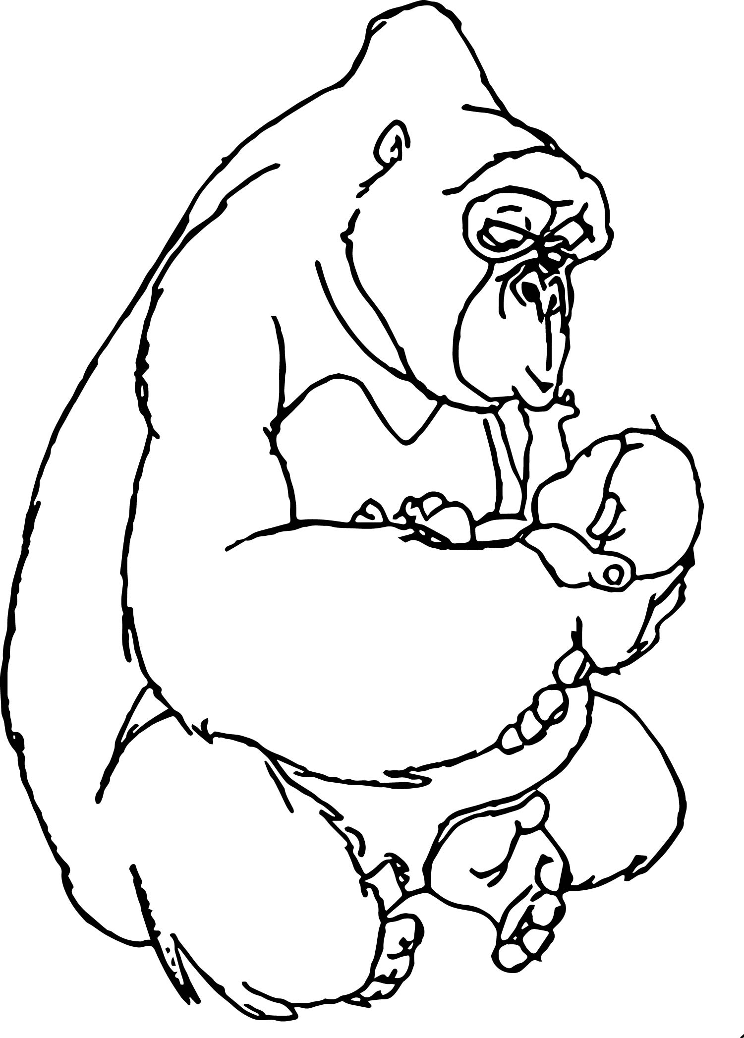 Disney Baby Tarzan Look Coloring Page