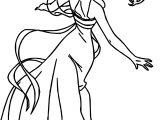 Disney Enchanted Princess Girl Dance Coloring Pages