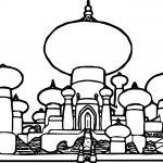 Disney Graphics Aladdin Castle Coloring Page