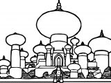 Disney Graphics Aladdin Castle Coloring Page