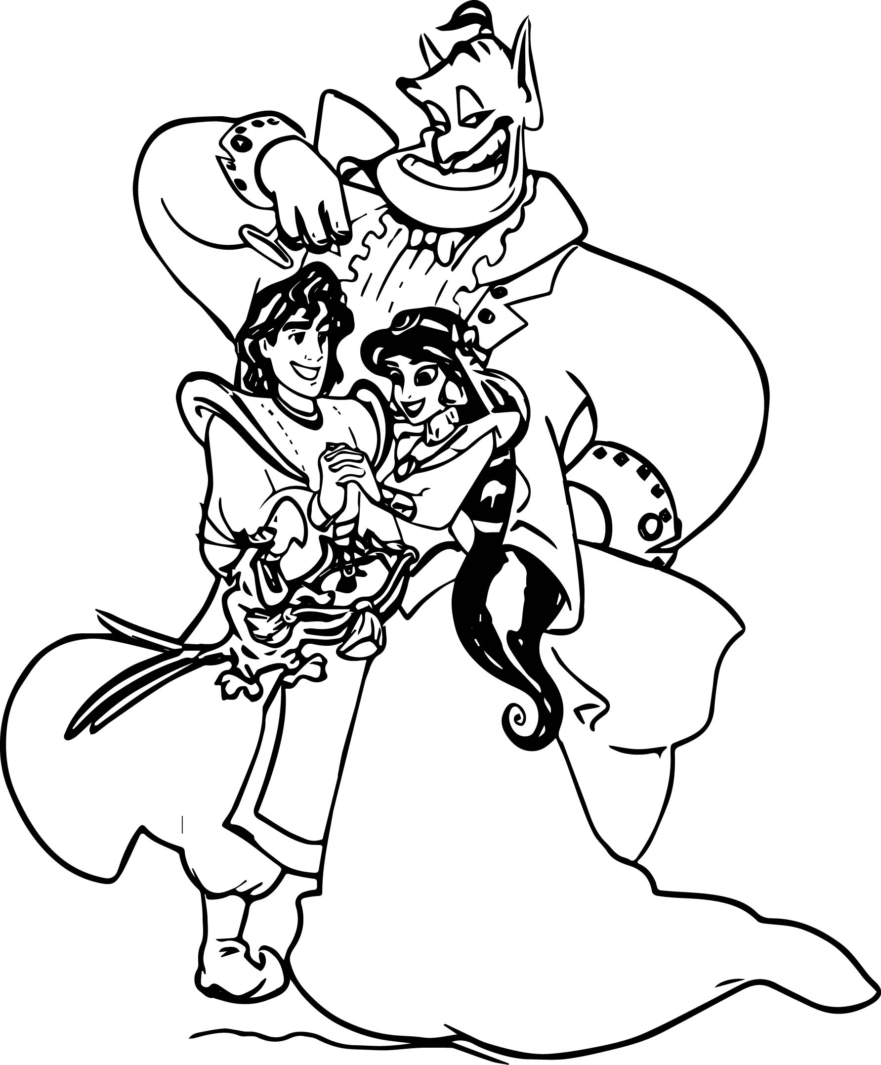 Disney coloring pages aladdin