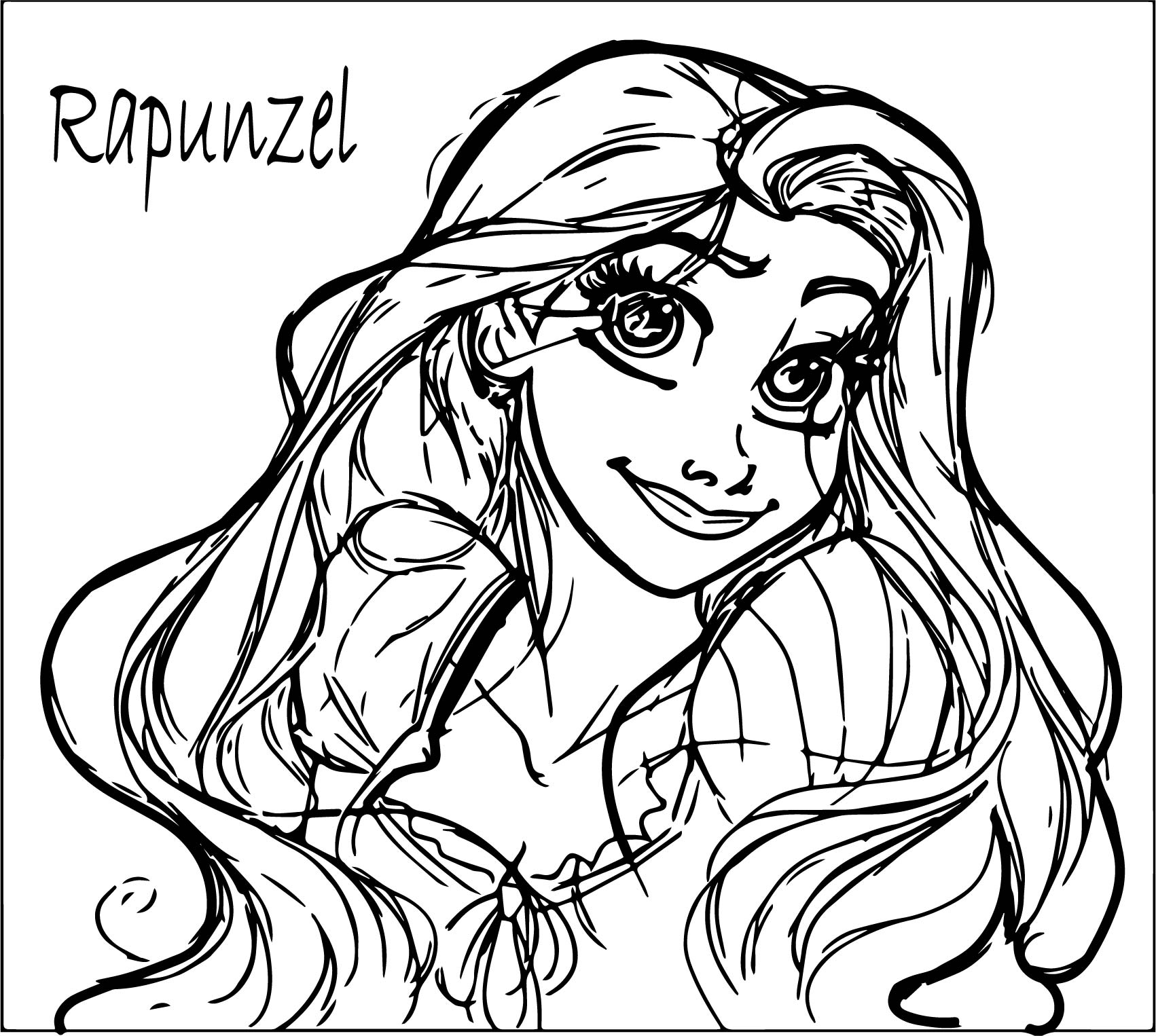Disney rapunzel from tangled coloring page for Disney princess rapunzel coloring pages