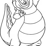 Disney The Princess And The Frog Louis Crocodile Coloring Page
