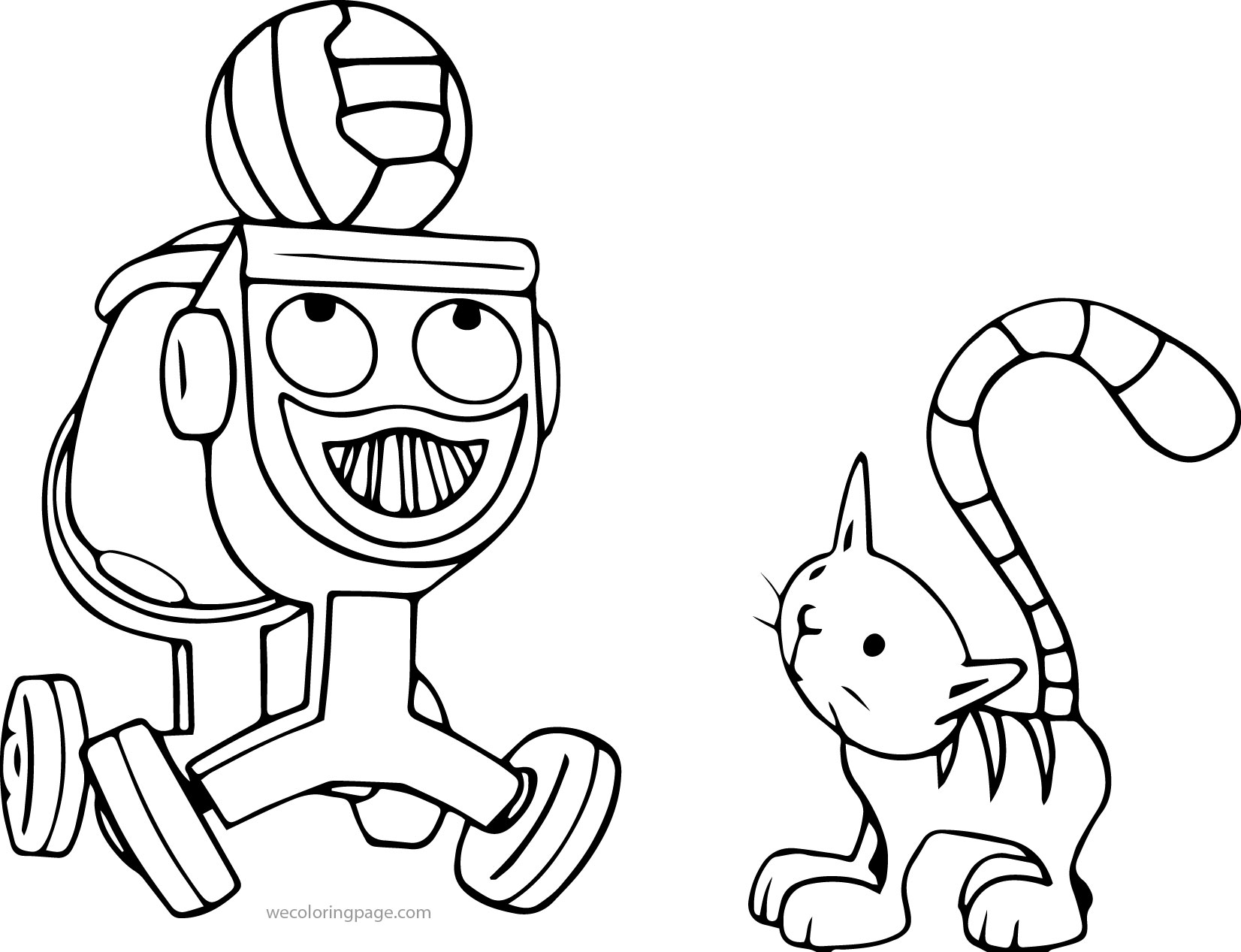 Dizzy Playing Ball With Cad Coloring Page