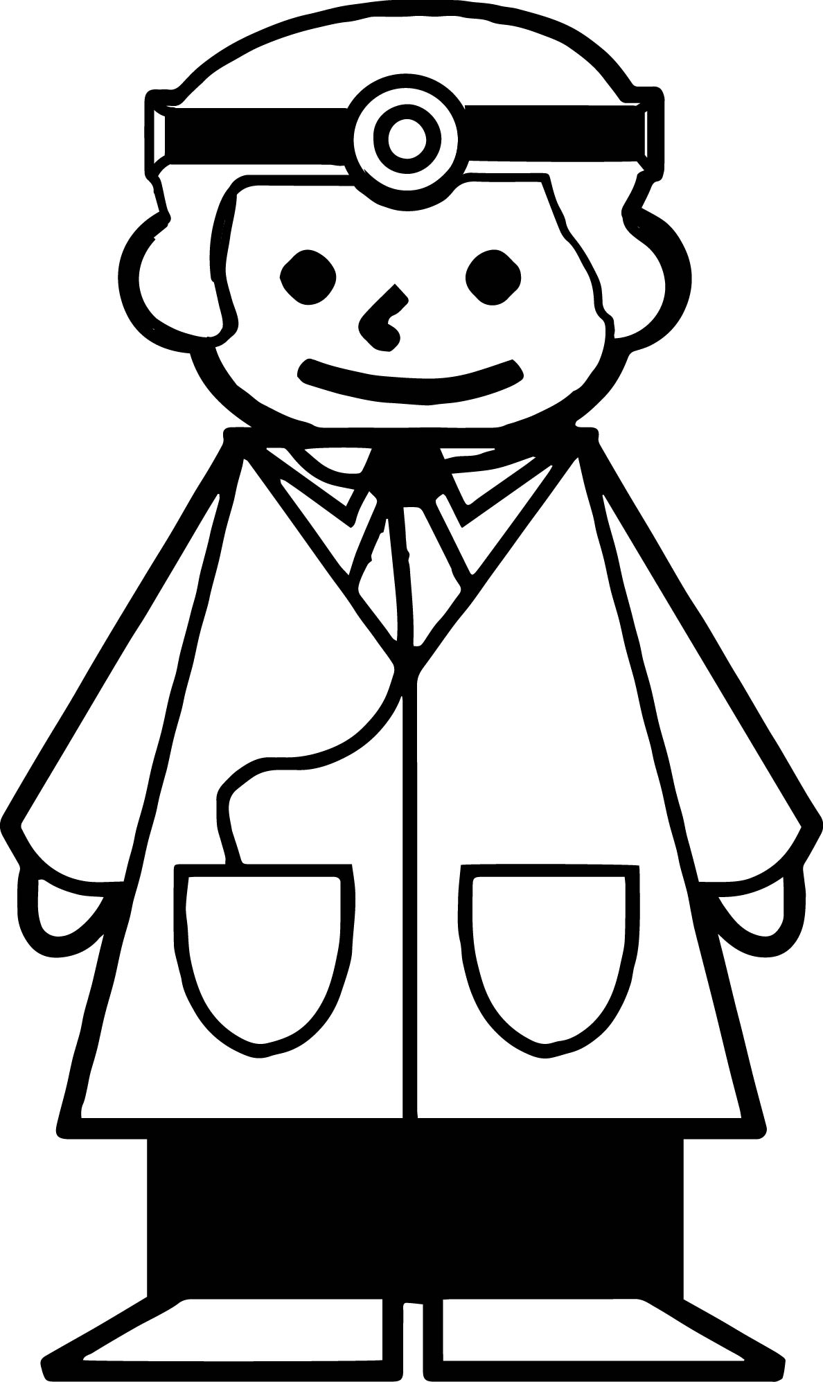 Doctor Basic Coloring Page