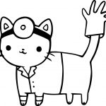 Doctor Cat Coloring Page