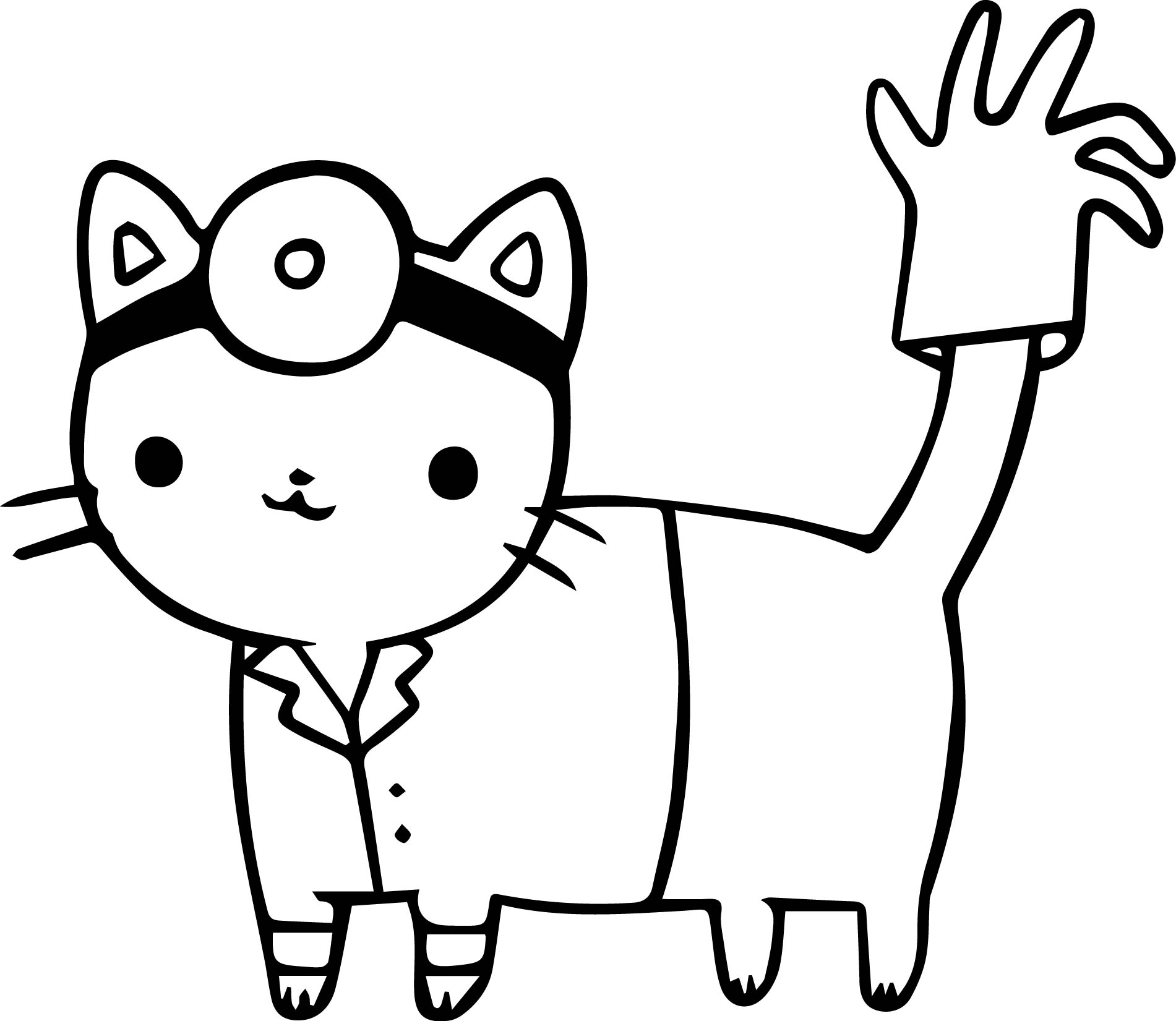 doctor cat coloring page wecoloringpage