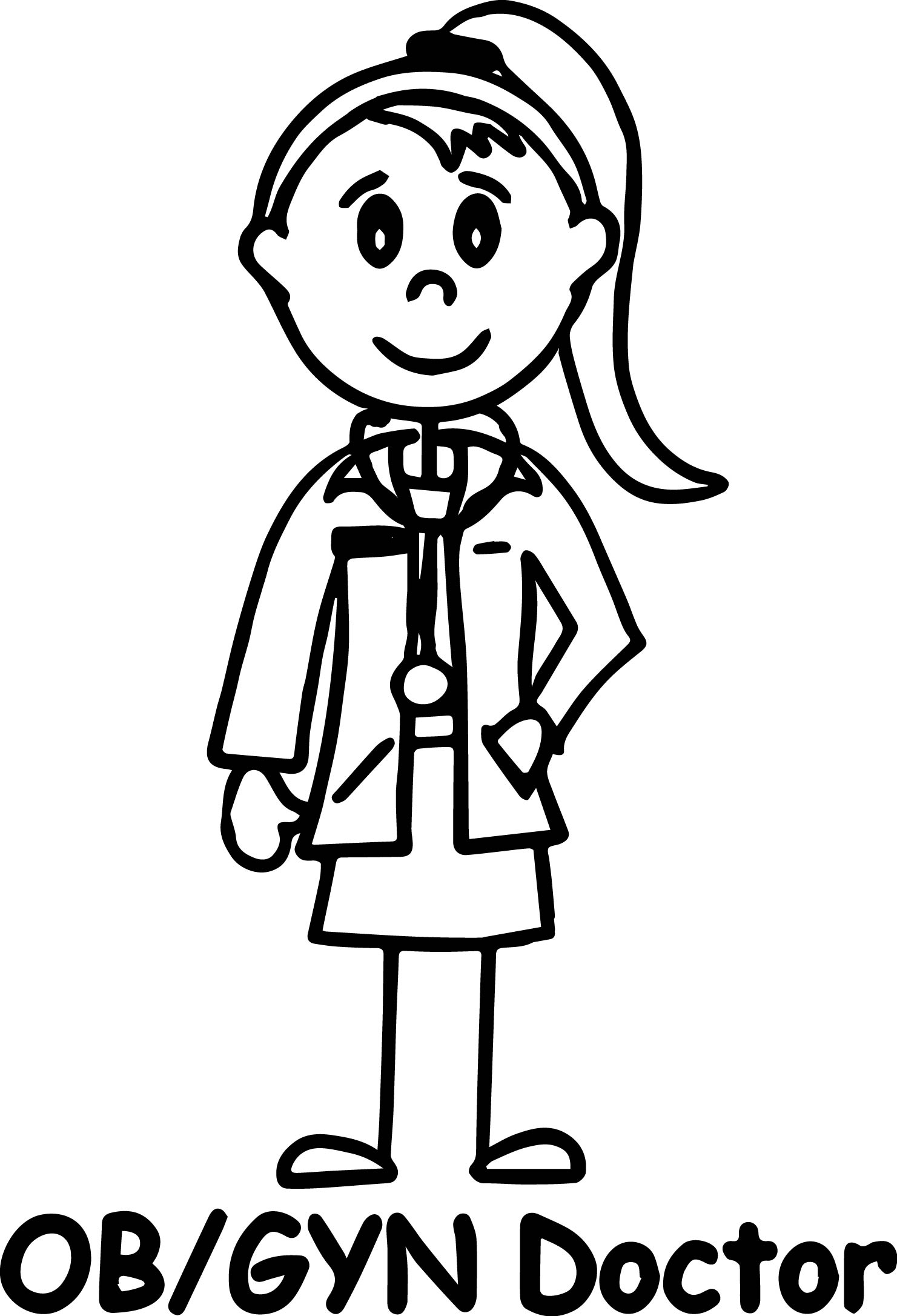 Doctor Girl Coloring Page Ob Gyn