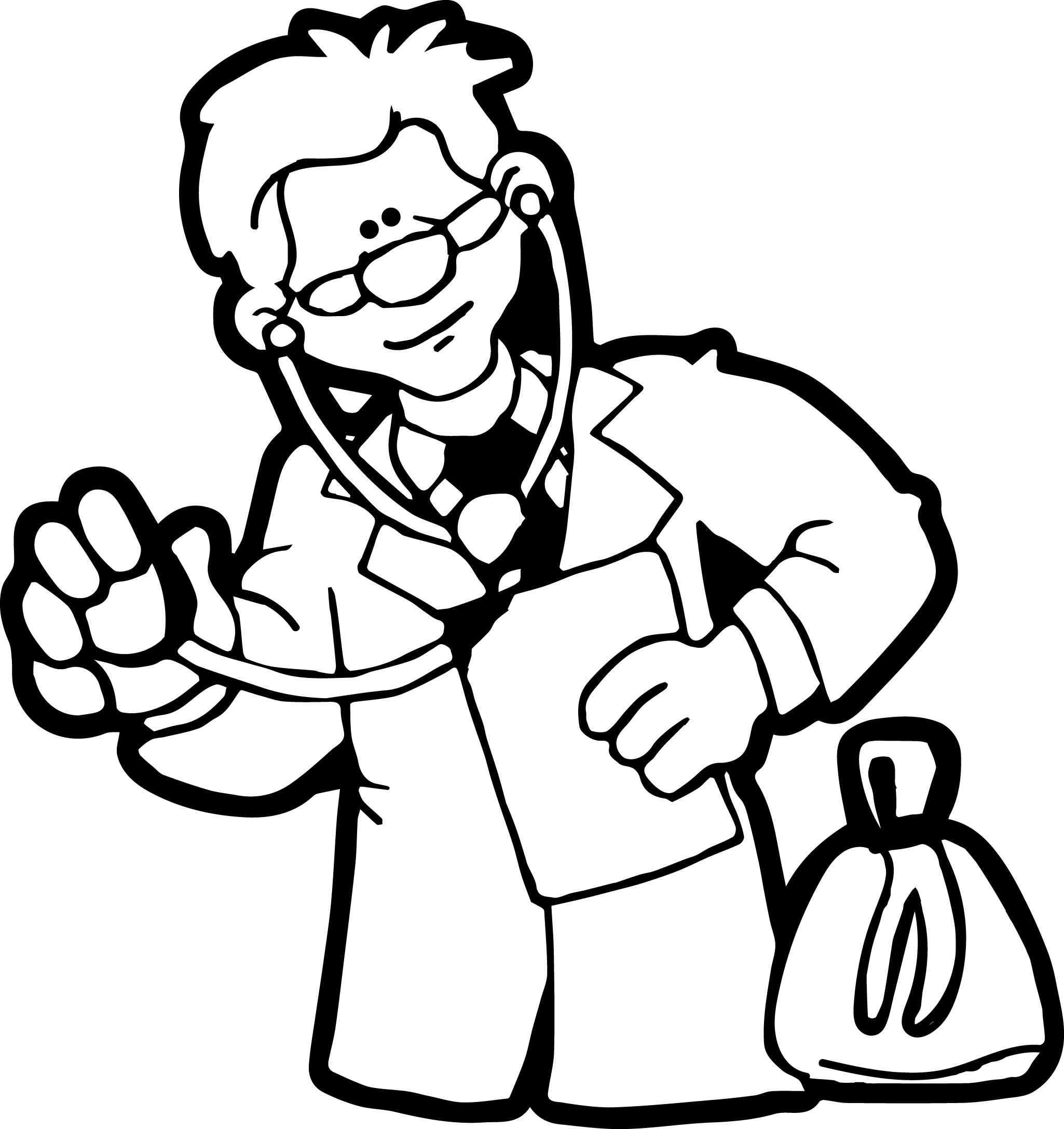 Doctor Look Coloring Page