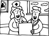 Doctor & Nurse Coloring Page