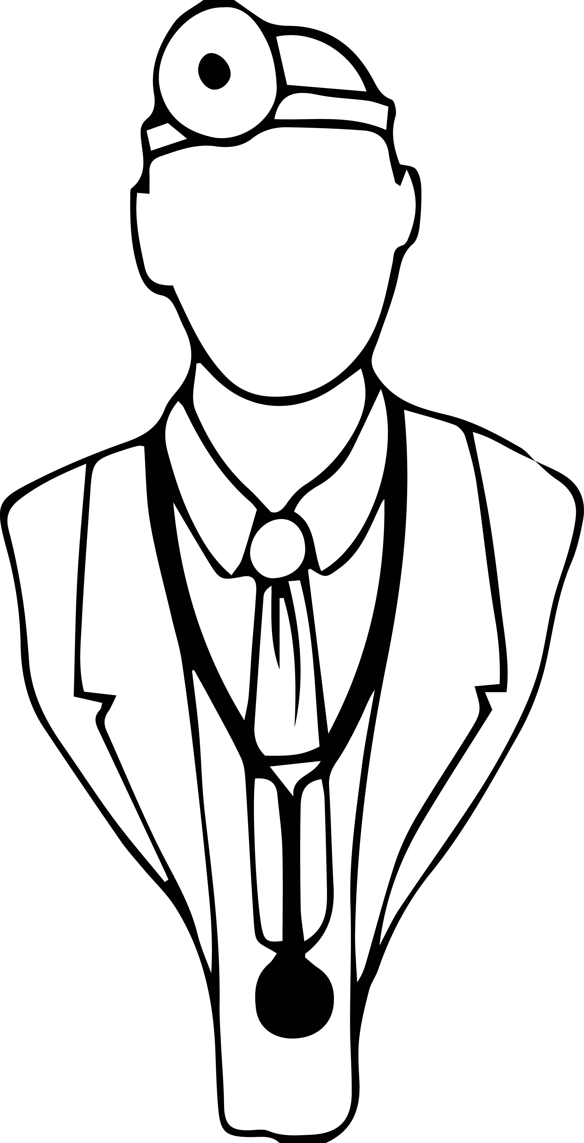 Doctor Silhouette Coloring Page