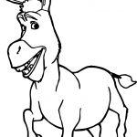 Donkey Shrek Coloring Page