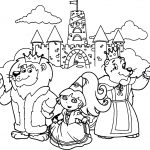 Dora And Animals Castle Coloring Page