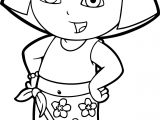 Dora Beach Dress Coloring Page