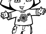 Dora Flower Shirt Coloring Page