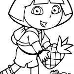 Dora Fruit Coloring Page