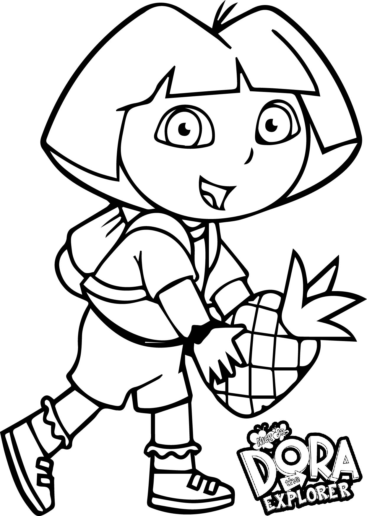 Dora fruit coloring page for Dora black and white coloring pages