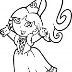 Dora Image Coloring Page