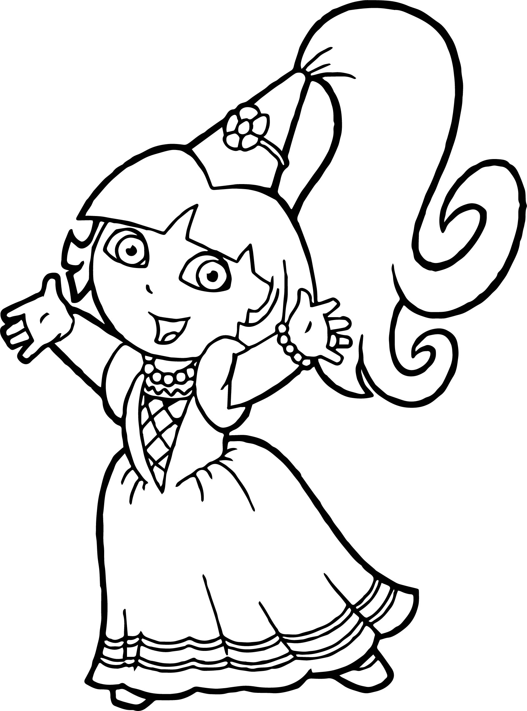 Dora mermaid pages coloring pages for Dora mermaid coloring pages
