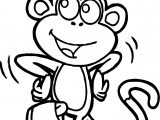 Dora Monkey Coloring Page
