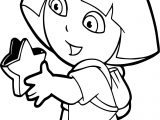 Dora Opening Star Box Coloring Page