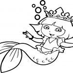 Dora Sea Girl Coloring Page